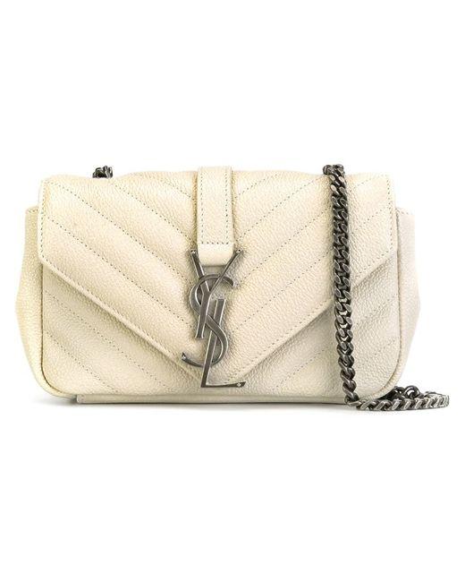 Saint Laurent   Женское Белый Baby Monogram Shoulder Bag