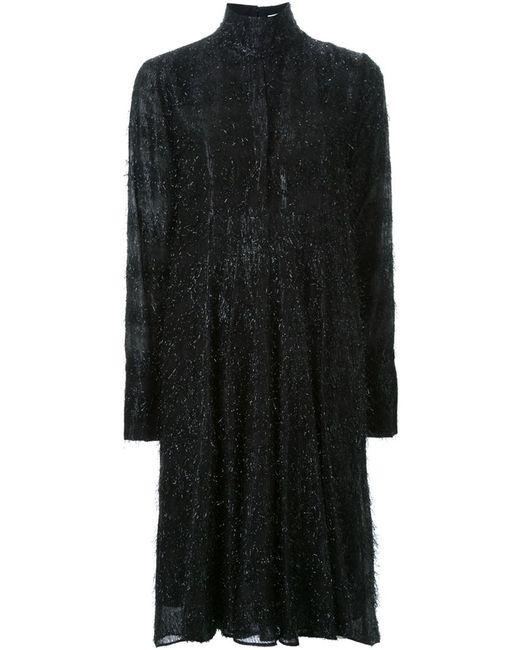 SCANLAN THEODORE   Женское Чёрное Платье С Отделкой Мишурой