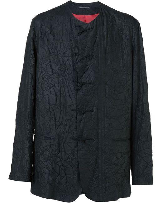 Yohji Yamamoto   Мужской Чёрный Пиджак С Эффектом Помятости