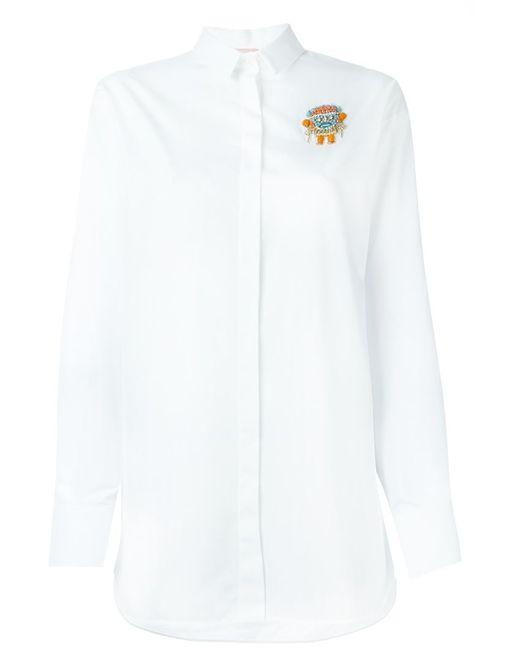 No21   Женская Белая Декорированная Рубашка