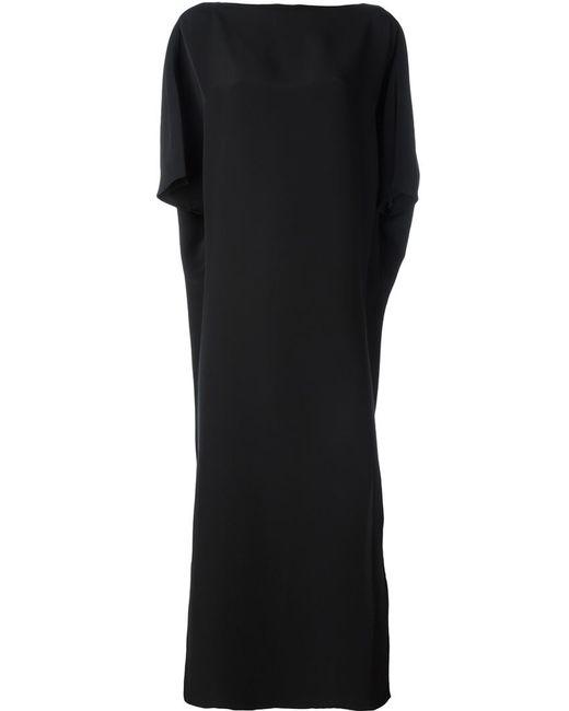 Gianluca Capannolo | Женское Чёрное Платье Макси Свободного Кроя