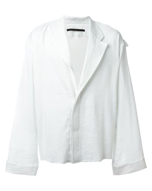 Haider Ackermann | Мужская Белая Рубашка В Стиле Блейзера