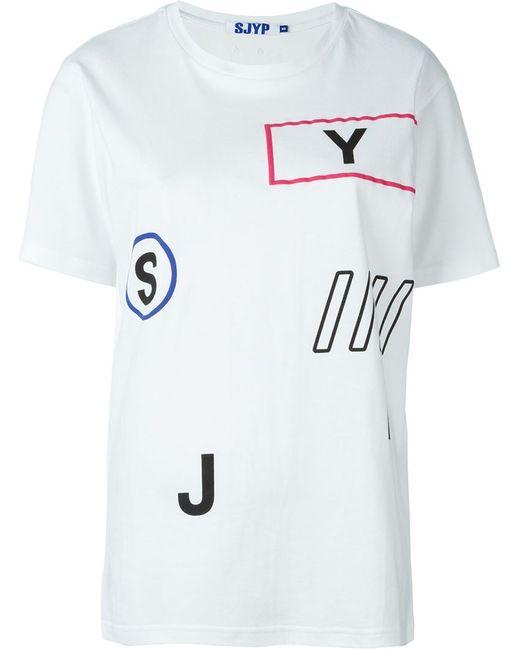 Steve J & Yoni P | Женская Белая Футболка С Принтом