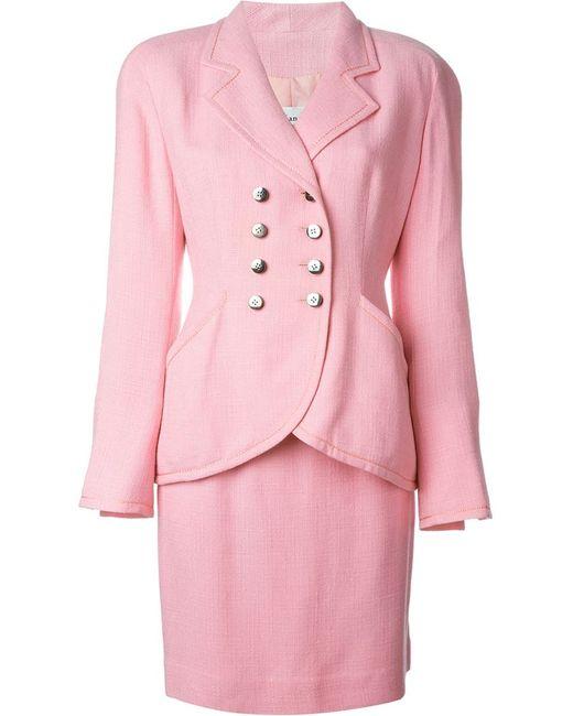 Christian Dior Vintage | Женский Розовый Юбочный Костюм