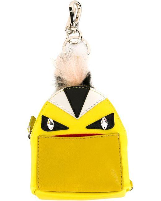 Fendi | Жёлтый Брелок Bag Bug