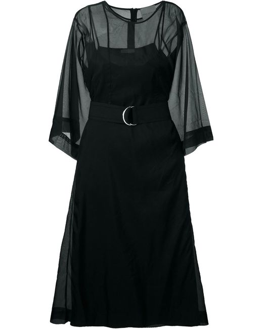 Erika Cavallini | Женское Чёрное Платье Миди