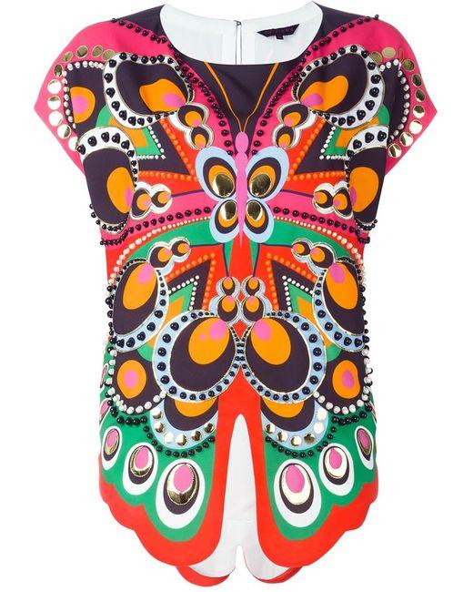 Manish Arora | Женская Многоцветная Блузка С Принтом