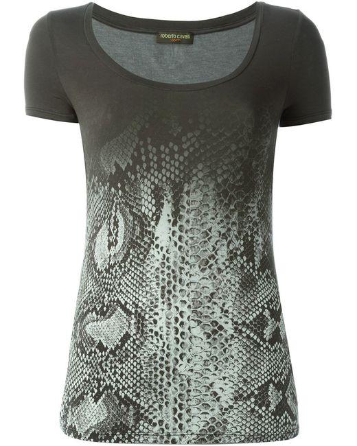 Roberto Cavalli | Женское Серый Degradé Snakeskin Print T-Shirt