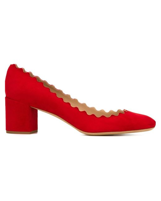 Chloe | Женские Красные Туфли Lauren