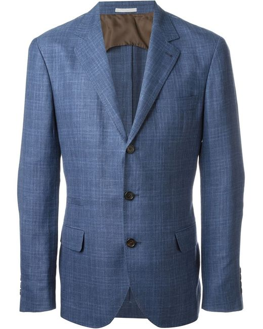Brunello Cucinelli   Мужской Синий Классический Блейзер
