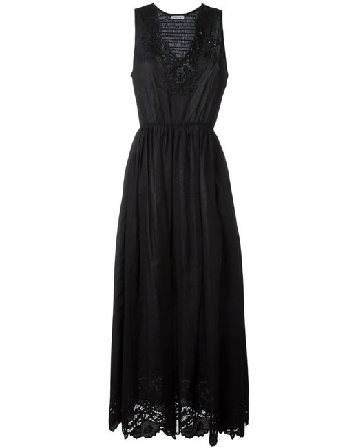 P.A.R.O.S.H. | Женское Чёрное Платье С Вышивкой