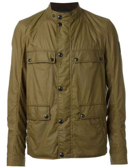 Belstaff | Мужская Зелёная Легкая Куртка С Накладными Карманами