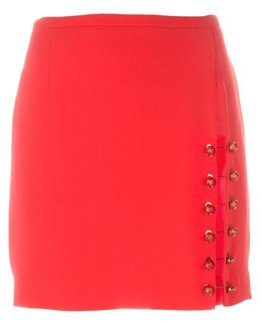 Versus | Женское Красный Pinned Slit Short Skirt