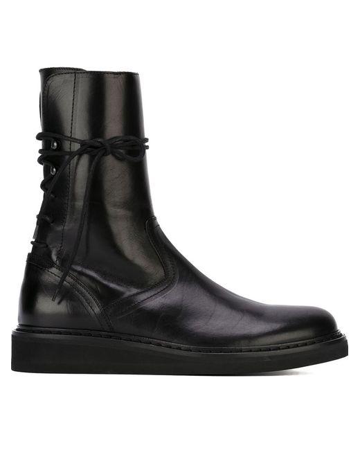 Ann Demeulemeester   Мужское Чёрный Lace-Up Boots