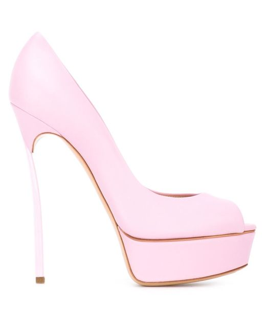 Casadei | Женские Розовые Туфли На Платформе Blade