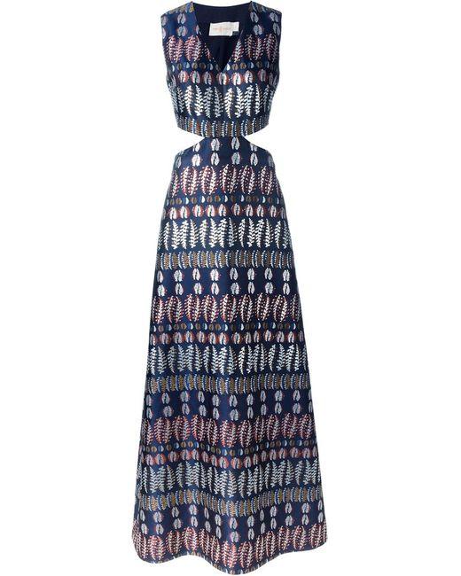 Tory Burch | Женское Синее Платье Без Рукавов