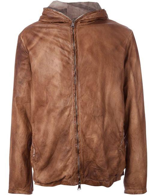 Giorgio Brato | Мужская Коричневая Куртка С Капюшоном