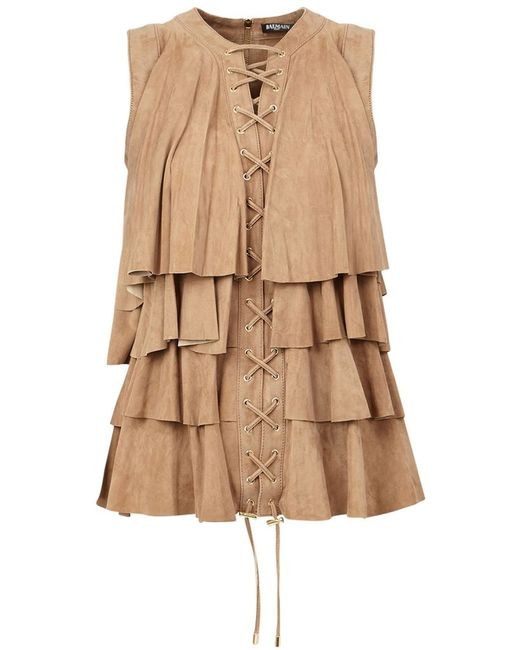 Balmain | Женское Nude & Neutrals Ruffle Top