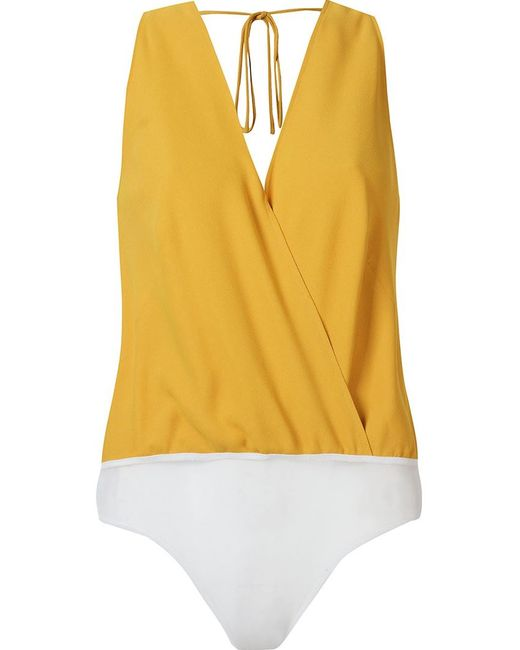 ANDREA MARQUES | Женское Желтый Sleeveless Cache-Coeur Body