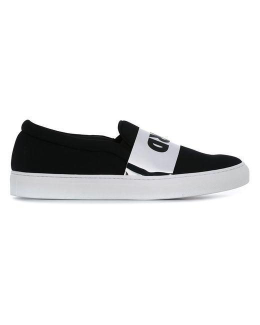 Joshua Sanders | Мужское Чёрный Hard Print Slip-On Sneakers