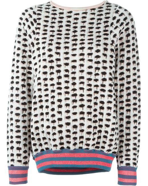 Stella Mccartney   Женское Розовый Dotted Sweatshirt
