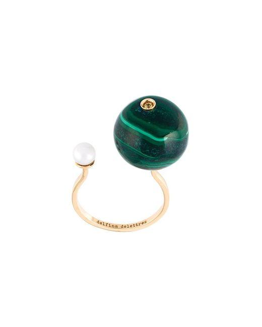 Delfina Delettrez | Женское Серебристый Stone-Edge Piercing Sapphire Ring