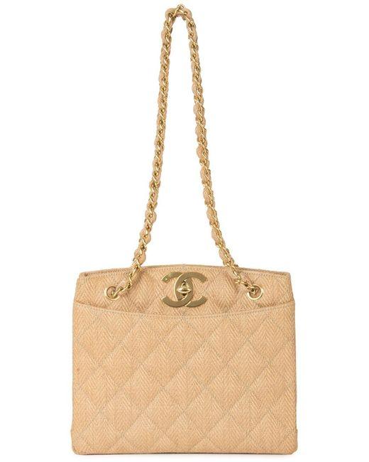 Chanel Vintage | Женская Коричневая Сумка На Плечо С Цепочной Отделкой
