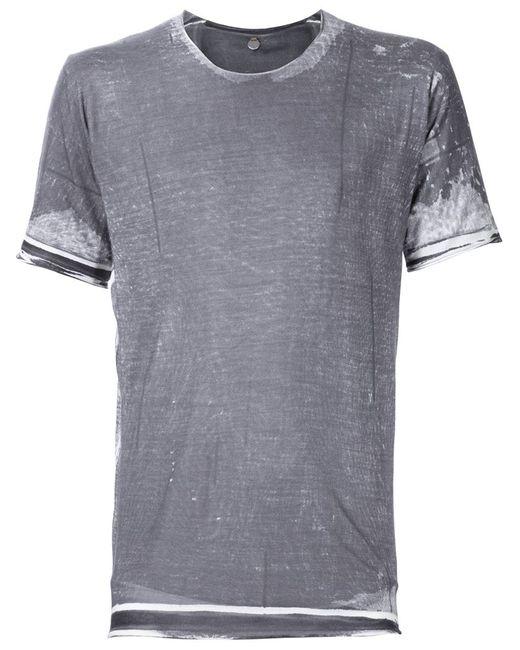 Label Under Construction   Мужское Серый Silk T-Shirt
