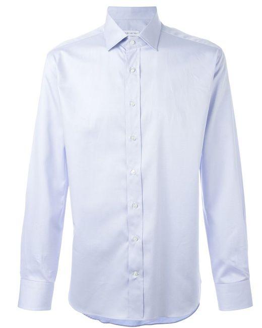 Etro   Мужская Синяя Классическая Рубашка