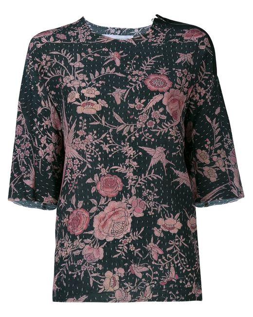 BY WALID   Женское Чёрный Isabel Silk Top With Zip Detail