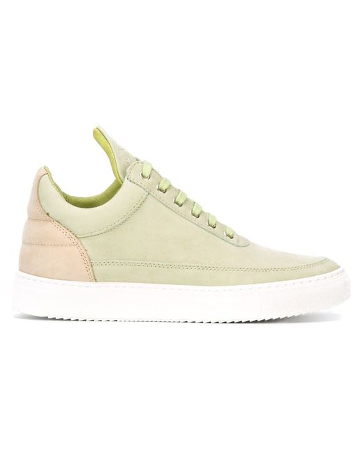 Filling Pieces   Женское Зелёный Low Top Sneakers