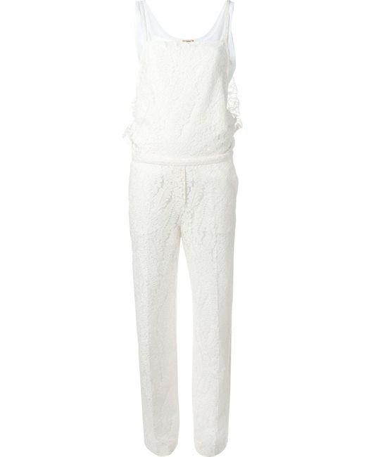 No21 | Женское Белый Lace Jumpsuit