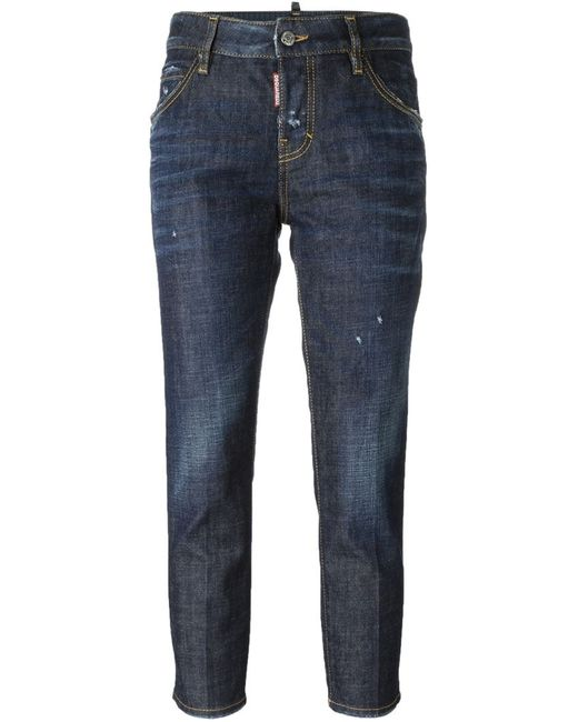 Dsquared2   Женское Синий Cool Girl Cropped Jeans