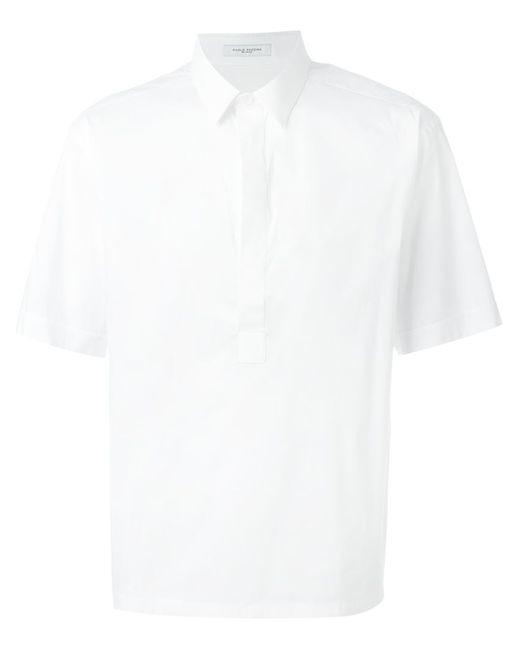 Paolo Pecora | Мужское Белый Short Sleeve Shirt
