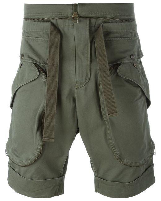 Faith Connexion   Мужское Зелёный Military Shorts