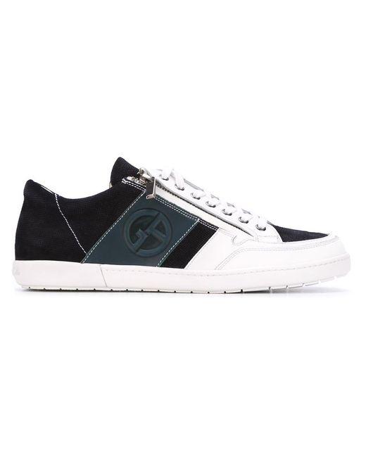 Giorgio Armani   Мужское Синий Side Zip Sneakers