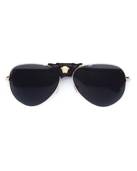 Versace | Женские Чёрные Солнцезащитные Очки Medusa