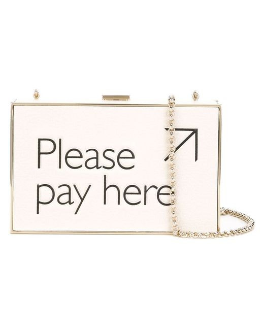 Anya Hindmarch | Женский Nude & Neutrals Клатч-Футляр Please Pay Here