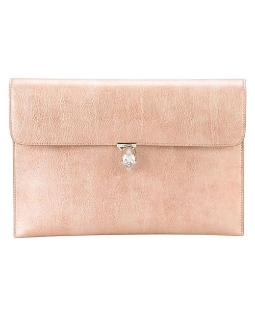 Alexander McQueen   Женское Розовый Skull Flap Wallet