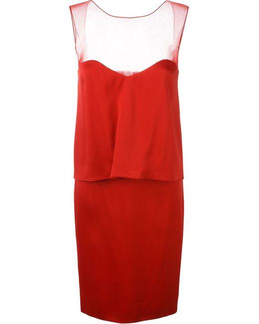 Maison Margiela | Женское Красное Многослойное Платье