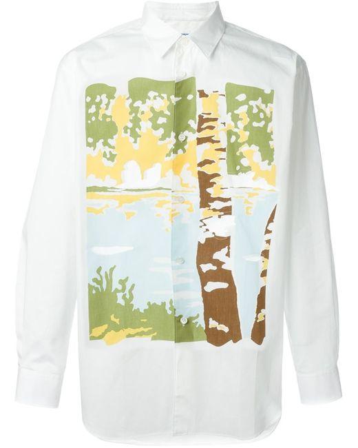 Comme Des Garcons | Мужское Белый Print Shirt