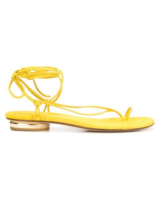 Stuart Weitzman | Женское Желтый Nieta Flat Sandals