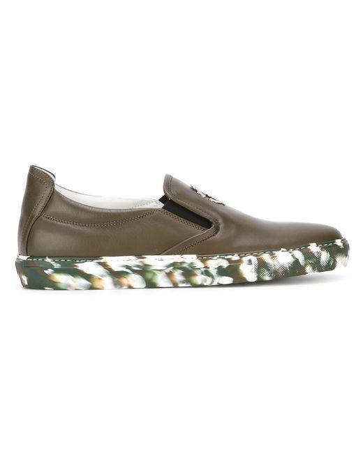 Roberto Cavalli | Мужское Зелёный Logo Plaque Slip On Sneakers