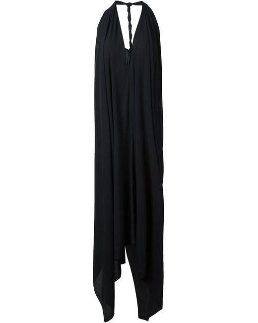 Lost & Found Ria Dunn | Женское Чёрное Расклешенное Платье С Вырезом-Халтер