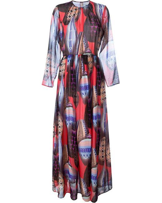 MSGM   Женское Многоцветное Платье С Принтом Воздушных Шаров