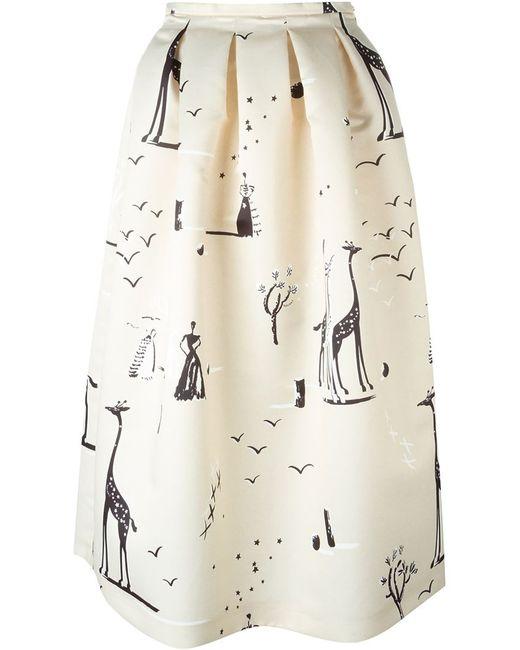 Rochas   Женское Nude & Neutrals Full Skirt