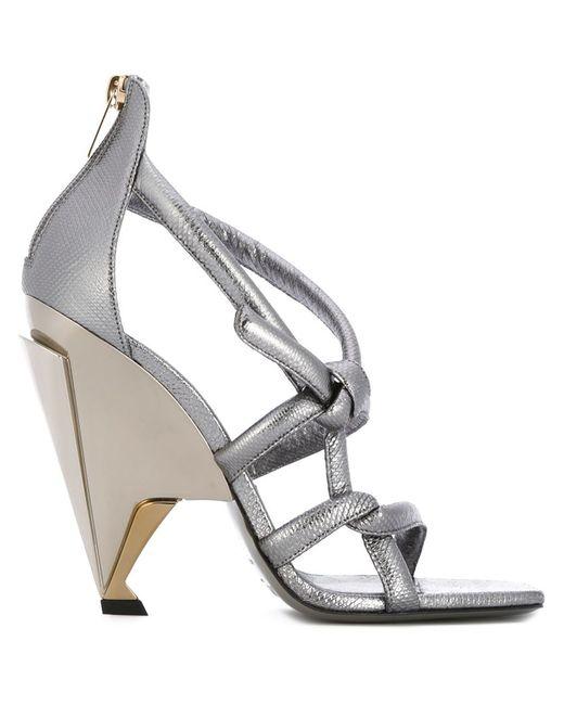 Jimmy Choo   Женское Серебристый Kissy Sandals