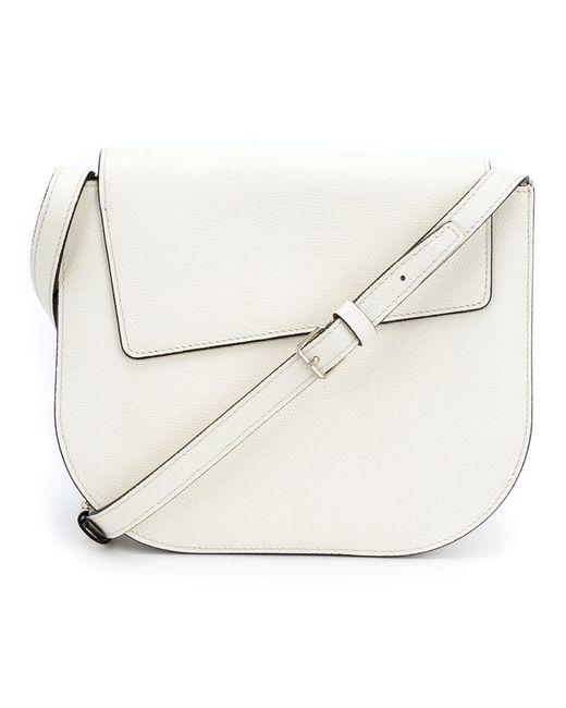 Valextra | Женское Белый Asymmetric Flap Cross Body Bag