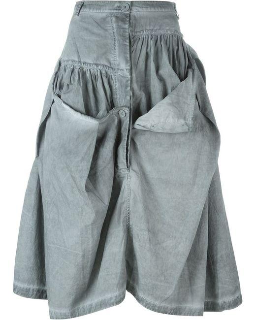Rundholz   Женское Серый Button Detail Ruffled Skirt