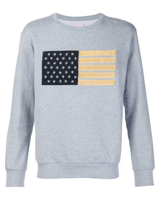 PALM ANGELS | Мужское Серый Flag Embroidery Sweater